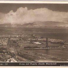 Postales: BARCELONA, VISTA DEL PUERTO Y MONTJUICH, ZERKOWITZ, SIN CIRCULAR. Lote 58836851