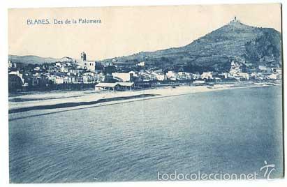 GIRONA BLANES DES DE LA PALOMERA FOTOTIPIA THOMAS. SIN CIRCULAR (Postales - España - Cataluña Antigua (hasta 1939))