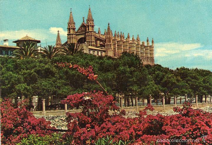 VESIV POSTAL MALLORCA PALMA LA CATEDRAL DESDE EL DESEMBARCADERO (Postales - España - Cataluña Moderna (desde 1940))