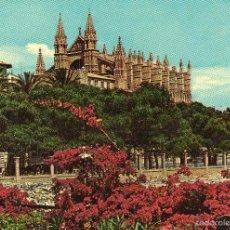 Postales: VESIV POSTAL MALLORCA PALMA LA CATEDRAL DESDE EL DESEMBARCADERO. Lote 59164885