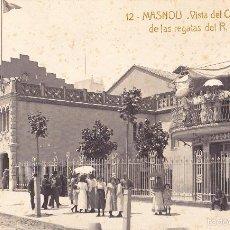 Postales: MASNOU. VISTA DEL CASINO EL DÍA DE LAS REGATAS DEL R.C.B. Nº 12. FOTOGRÁFICA. CIRCULADA. . Lote 59477029