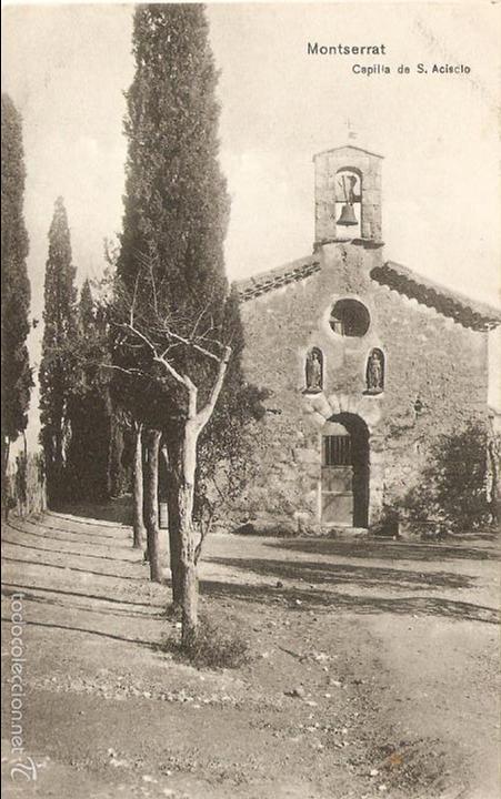 Carte Barcelone Montserrat.Postal Montserrat Barcelona Capilla De S Acisc Buy Old Postcards
