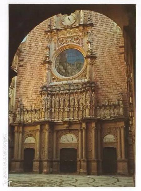MONTSERRAT. FACHADA DE LA BASILICA. (Postales - España - Cataluña Moderna (desde 1940))