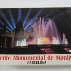 Postales: BLOCK DE 12 POSTALES. FUENTE MONUMENTAL DE MONTJUICH, BARCELONA. EDICION FABREGAT. Lote 59950819