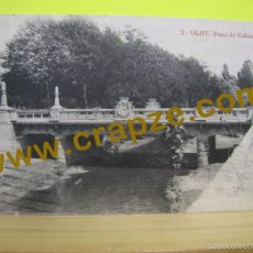 Postales: OLOT: PONT DE COLON - ANTIGA - POSTAL ORIGINAL. Lote 60846787