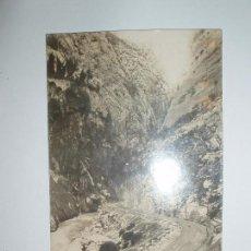 Postales: FOTO POSTAL DESFILADERO DE COLLEGATS. J.B./12. ESCRITA 1916. Lote 61024063