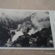 Postales: MONTSERRAT EL SANTUARIO ENVUELTO EN NIEBLA FOTO ZERKOWITZ. Lote 61188791