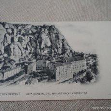 Postales: MONTSERRAT VISTA GENERAL DEL MONASTERIO Y APOSENTOS J.E. PUIG FOT. 14X9 CM.. Lote 61189423