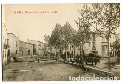 GIRONA BLANES RIERA Y FONT DE LA CREU . FOTOTIPIA THOMAS. SIN CIRCULAR (Postales - España - Cataluña Antigua (hasta 1939))