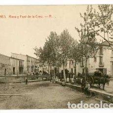 Postales: GIRONA BLANES RIERA Y FONT DE LA CREU . FOTOTIPIA THOMAS. SIN CIRCULAR. Lote 61429443