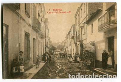 GIRONA BLANES CARRER DEL ARRABAL. FOTOTIPIA THOMAS. SIN CIRCULAR (Postales - España - Cataluña Antigua (hasta 1939))