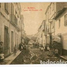 Postales: GIRONA BLANES CARRER DEL ARRABAL. FOTOTIPIA THOMAS. SIN CIRCULAR. Lote 61430715