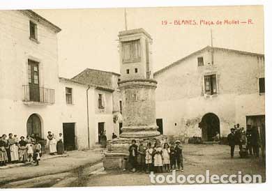 GIRONA BLANES PLAÇA DE MOLLET . FOTOTIPIA THOMAS. SIN CIRCULAR (Postales - España - Cataluña Antigua (hasta 1939))