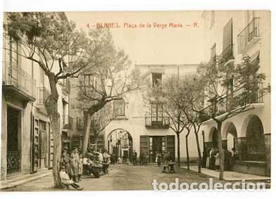 GIRONA BLANES PLAÇA DE LA VERGE MARIA . FOTOTIPIA THOMAS. SIN CIRCULAR (Postales - España - Cataluña Antigua (hasta 1939))