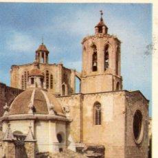 Postales: TARRAGONA. CATEDRAL. ESCRITA CON SELLO Y MATASELLOS DE 1953. Lote 62031204