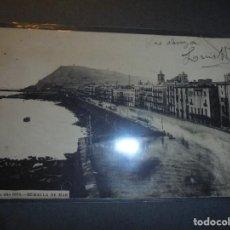 Postales: POSTAL - BARCELONA , AÑO 1870 - MURALLA DE MAR . POSTAL CIRCULADA REVERSO SIN DIVIDIR . 14X9 CM. . Lote 62075428