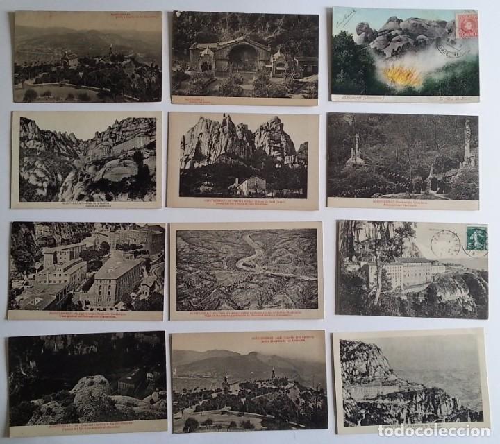 LOTE DE 35 ANTIGUAS POSTALES DEL MONASTERIO DE MONTSERRAT Y ALREDEDORES (Postales - España - Cataluña Antigua (hasta 1939))