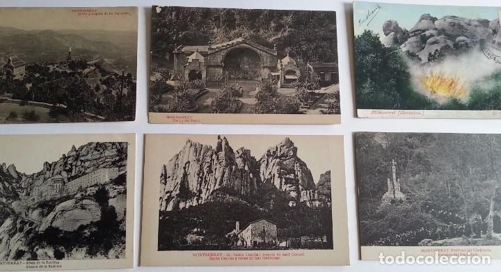 Postales: lote de 35 antiguas postales del monasterio de MONTSERRAT y alrededores - Foto 2 - 62170676