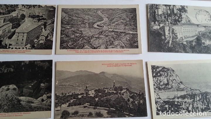 Postales: lote de 35 antiguas postales del monasterio de MONTSERRAT y alrededores - Foto 3 - 62170676