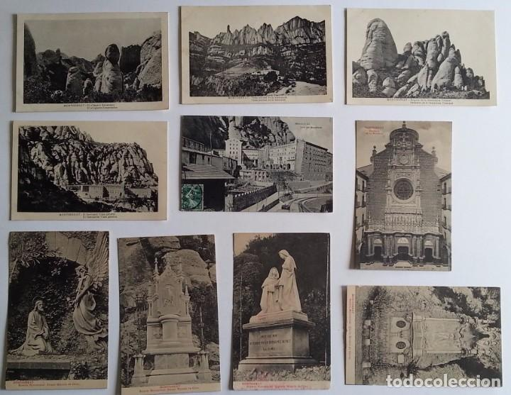 Postales: lote de 35 antiguas postales del monasterio de MONTSERRAT y alrededores - Foto 4 - 62170676