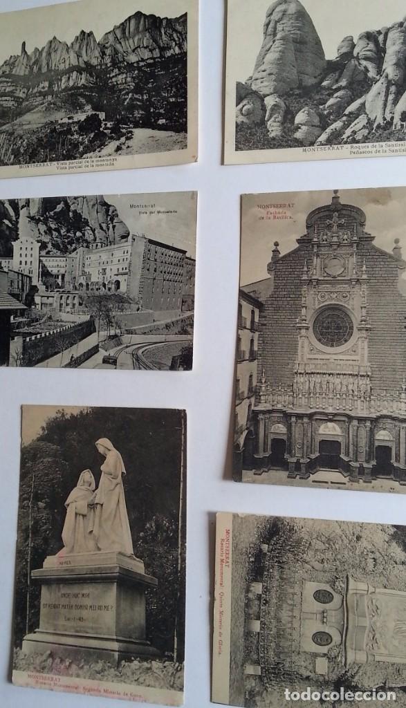 Postales: lote de 35 antiguas postales del monasterio de MONTSERRAT y alrededores - Foto 5 - 62170676