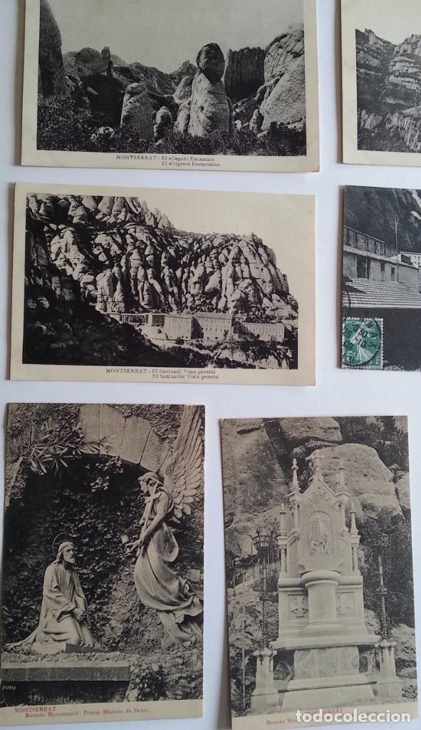 Postales: lote de 35 antiguas postales del monasterio de MONTSERRAT y alrededores - Foto 6 - 62170676