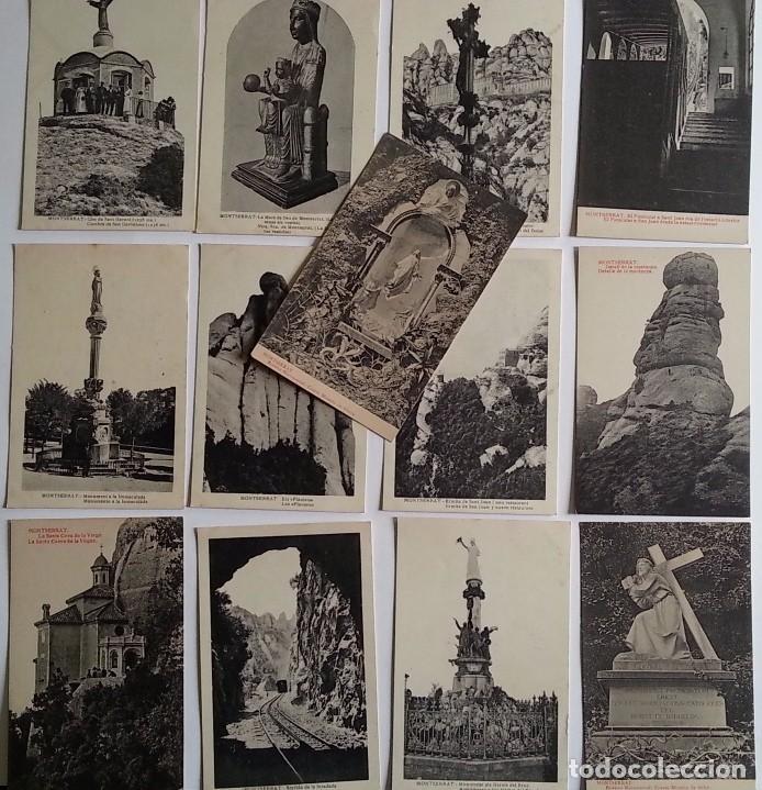 Postales: lote de 35 antiguas postales del monasterio de MONTSERRAT y alrededores - Foto 7 - 62170676