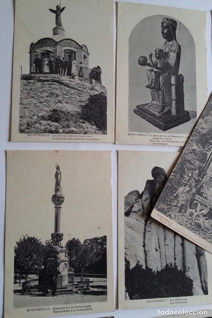 Postales: lote de 35 antiguas postales del monasterio de MONTSERRAT y alrededores - Foto 8 - 62170676