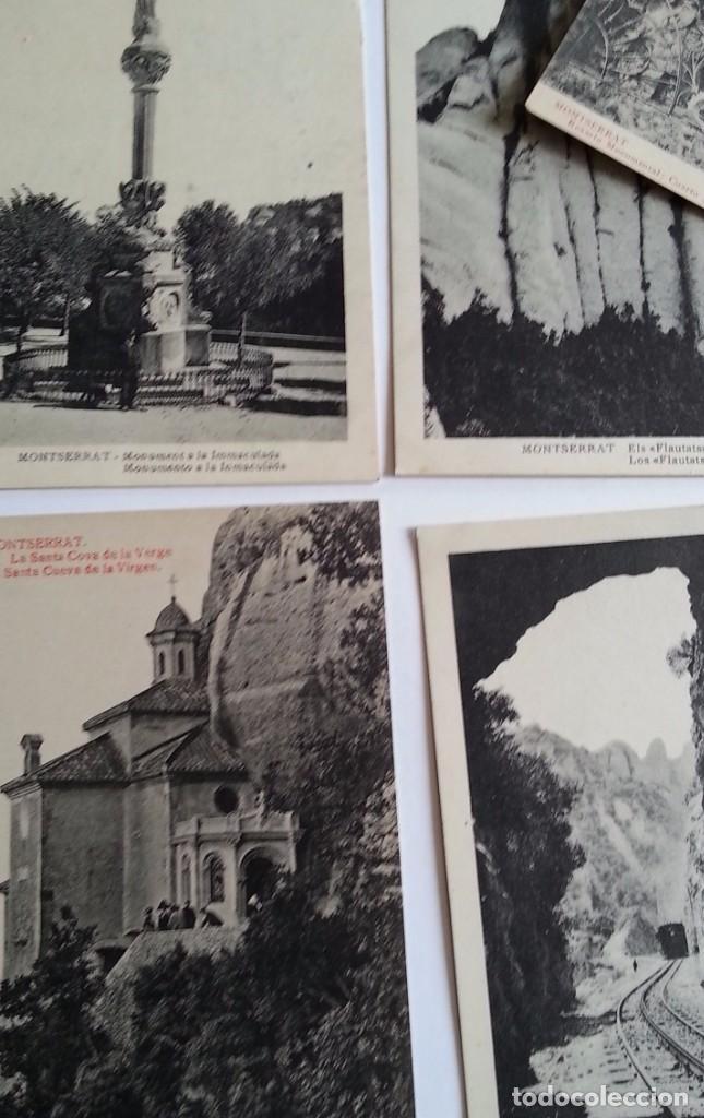 Postales: lote de 35 antiguas postales del monasterio de MONTSERRAT y alrededores - Foto 9 - 62170676