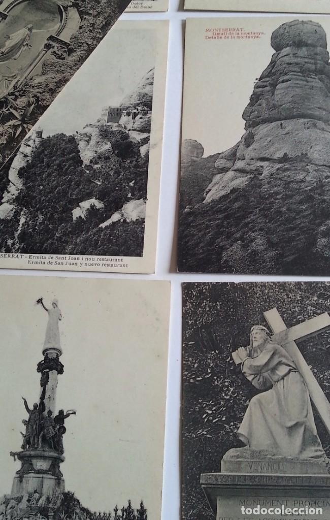Postales: lote de 35 antiguas postales del monasterio de MONTSERRAT y alrededores - Foto 10 - 62170676