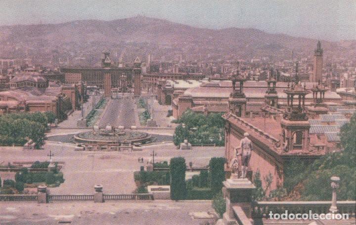 POSTAL BARCELONA. VISTA DESE EL PALAIO NACIONAL. MAYFE 67 (Postales - España - Cataluña Antigua (hasta 1939))