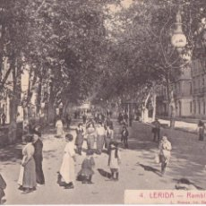 Postales: P- 6264. POSTAÑL DE LERIDA, RAMBLA FERNANDO. L. ROISIN Nº4.. Lote 63218972