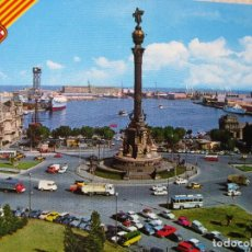 Postales: 580. BARCELONA. MONUMENTO A COLÓN Y PUERTO. FABER COLOR. SIN CIRCULAR.. Lote 63638243
