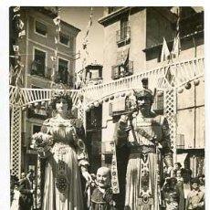 Postales: GIRONA OLOT LOS GIGANTES. ED. ARQUES. FOTO SOBERANAS. CIRCULADA. Lote 63656299