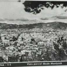 Postales: BARCELONA VISTA PARCIAL DESDE EL MONTJUIC. Lote 63785223