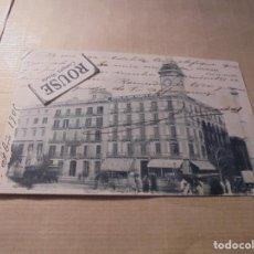 Postales: BARCELONA - PLAZA CATALUÑA POSTAL CIRCULADA 1903 - 14X9 CM. REVERSO SIN DIVIDIR , UNA PUNTA ARRUGADA. Lote 63921691