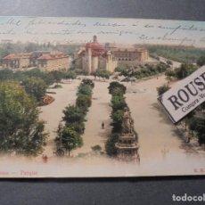 Postales: BARCELONA - PARQUE - K.H.B. 4176 POSTAL CIRCULADA 1905 - 14X9 CM. REVERSO SIN DIVIDIR . Lote 64601467