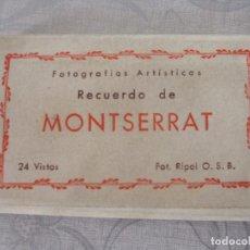 Postales: RECUERDO DE MONTSERRAT - FOTOS RIPOL O.S.B.. Lote 64710115