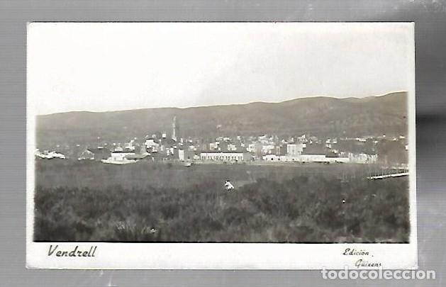 TARJETA POSTAL FOTOGRAFICA DE EL VENDRELL, TARRAGONA - UNA VISTA. EDICION GUIXENS (Postales - España - Cataluña Antigua (hasta 1939))
