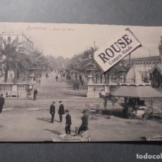 Postales: BARCELONA - PASEO COLON ROMMLER & JONAS DRESDE POSTAL CIRCULADA 1909 - 14X9 CM. . Lote 65664666