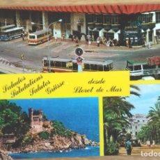 Postales: LLORET DE MAR - ESTACION AUTOBUSES. Lote 65744122