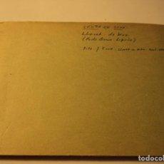 Postales: FOTOGRAMA PARA HACER POSTALES VENTA DE GOYA EN LLORET DE MAR LIBRO PRUEBAS Y 3 NEGATIVOS MAS TRASERA. Lote 66296382
