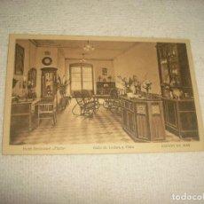Postales: HOTEL RESTAURANT FLORI, SALON DE LECTURA Y PIANO . ARENYS DE MAR . JORGE GRUNER, . SIN CIRCULAR. Lote 66693114