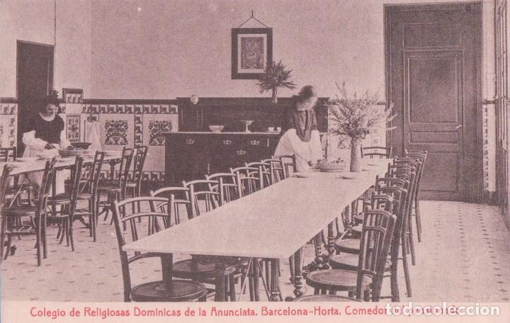 BARCELONA HORTA. COLEGIO DE RELIGIOSAS DOMINICANAS DE LA ANUNCIATA. COMEDOR PENSIONADO. (THOMAS) (Postales - España - Cataluña Antigua (hasta 1939))