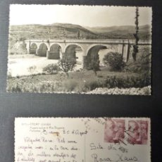 Postales: TREMP, PUENTE SOBRE EL RIO NOGUERA, POSTAL CIRCULADA DEL AÑO 1954. Lote 67018654
