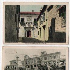 Postales: LOTE DE 2 POSTALES EXPOSICIÓN INTERNACIONAL DE BARCELONA. TRASERA CON PUBLICIDAD. Lote 67024570