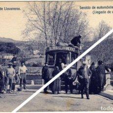 Postales: MAGNIFICA POSTAL - SAN ANDRES DE LLAVANERAS (BARCELONA) - SERVICIO DE AUTOMOVILES DE JOSE SERRA. Lote 49487428