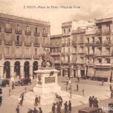 Postales: REUS (TARRAGONA).- PLAZA DE PRIM. Lote 68024949