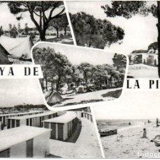 Postales: PS7077 LA PINEDA 'PLAYA DE LA PINEDA'. CON PLANO. FOTOGRAFÍA SOBERANAS. AÑOS 50. Lote 68032757