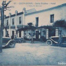 Postales: LLORET (GIRONA) COSTA BRAVA - SANTA CRISTINA HOTEL. Lote 68187389